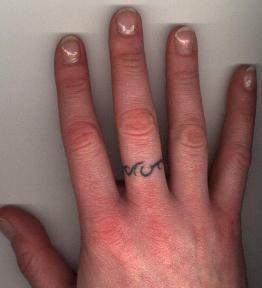ring finger tattoo am i crazy 8623640. Black Bedroom Furniture Sets. Home Design Ideas