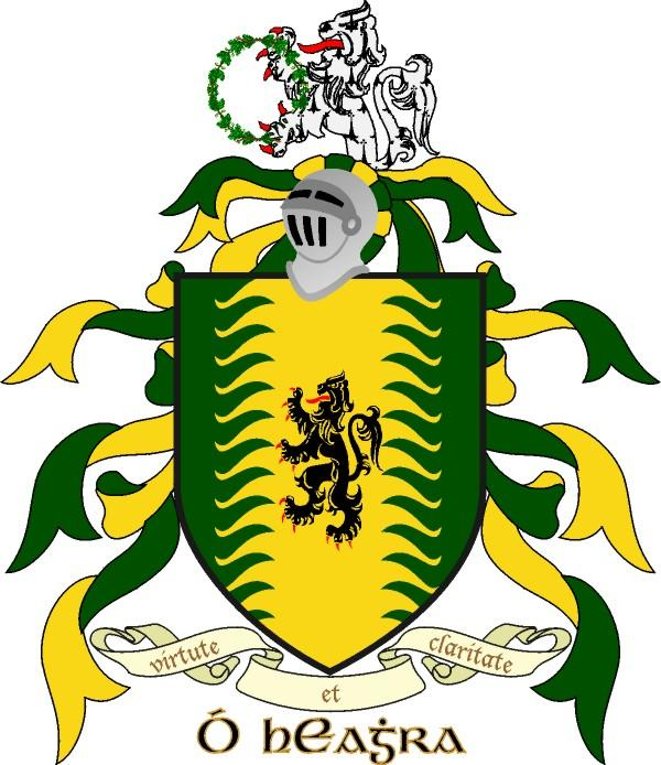 Flanigan Family Crest. Here's the O'Hara Crest.