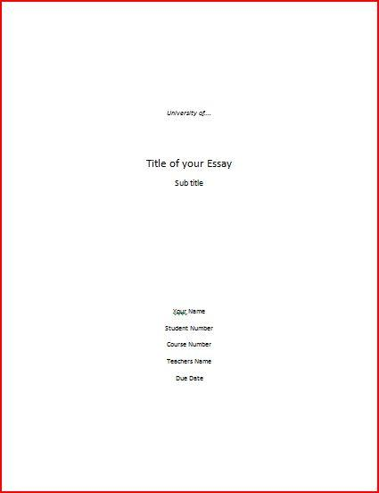 Sample title page for research paper