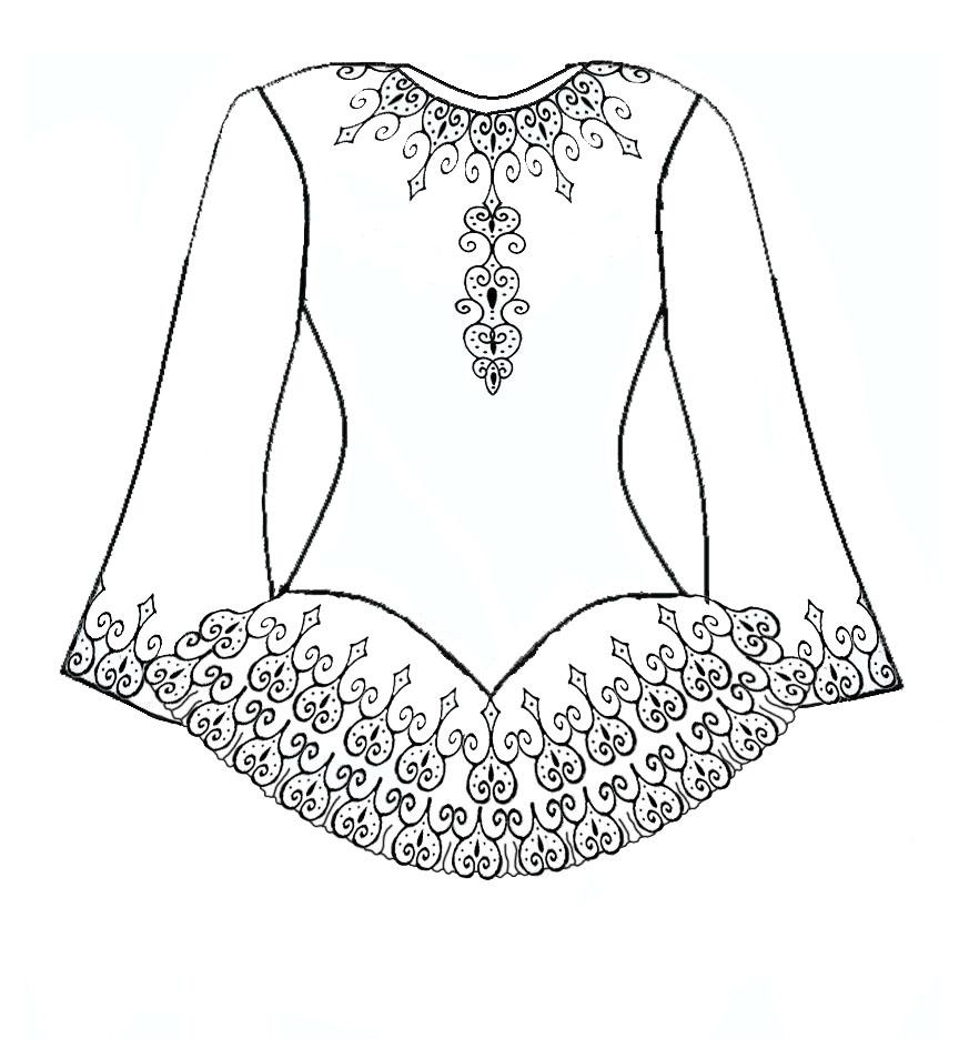 irish dance coloring pages free - photo#10