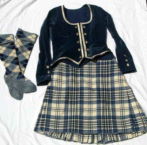 Highland for sale dresses costumes dress blue earl of skye complete