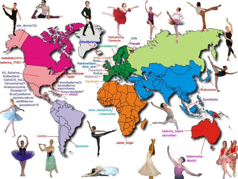 dance.net - The dance.net world map! ~*~ a gift for every ... on