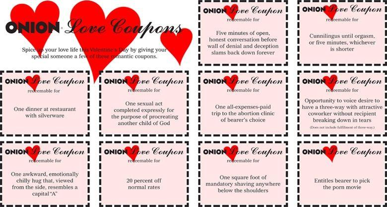 Valentine coupons naughty adult