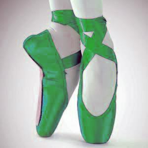 dancenet urgent bluegreen amp yellow pointe shoes